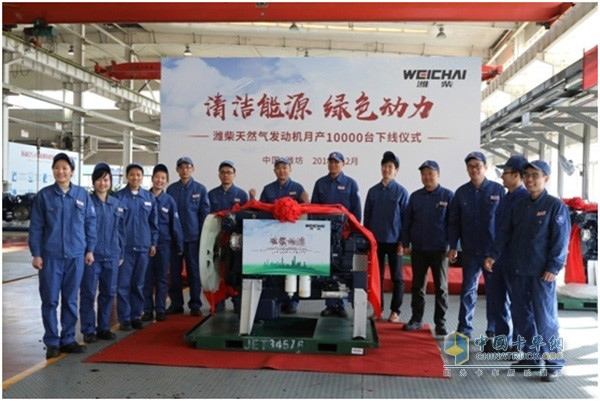 Weichai Natural Gas Powered Engines Reach 10,000 Units in Monthly Production Vol