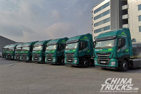 50 New CNG-Powered IVECO STRALIS NP trucks Delivered to PIMK Ltd, Bulgaria