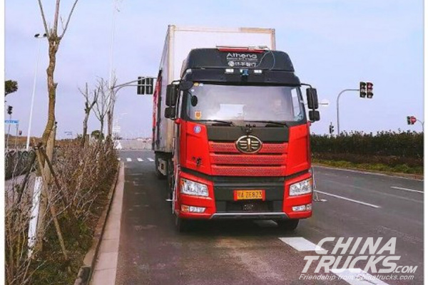 In-Driving Tech Puts Two Self-driving Trucks into Operation in Shanghai