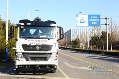 CNHTC Self-driving Truck Starts Operation in Jinan