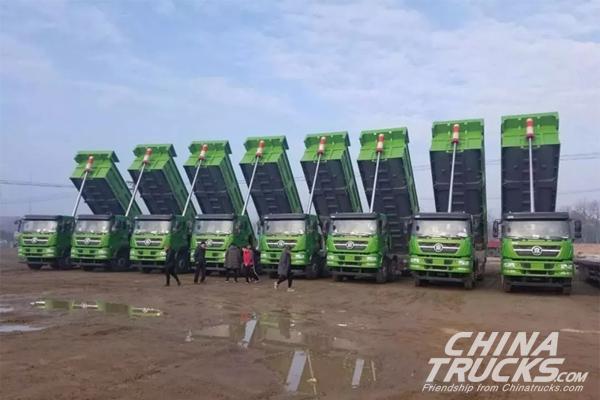 20 Units CNHTC Styr Trucks Arrive in Haimen for Operation