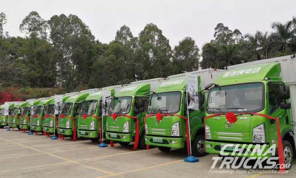 SHACMAN Delivered 100 Units Xuande E9 Electric Trucks to Shenzhen