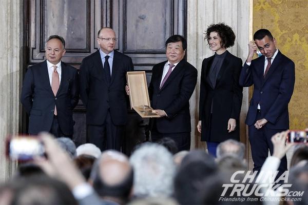 Tan Xuguang be the Only Foreign Entrepreneur to Get Italian Leonardo Awards