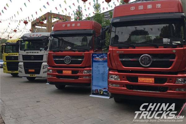28 Units Sitrak/Styr Trucks Ordered by Customers in Tongchuan
