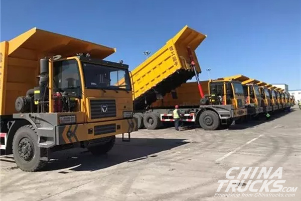 36 Units XCMG Heavy-duty Trucks Delivered to Pingzhuang Coal Mines for Operation