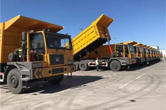 36 Units XCMG Dumping Trucks Delivered to Pingzhuang Coal Mines for Operation