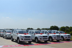 Jiangxi Isuzu Delivers 44 Units JIM EV pickups to Shanghai Pudong Airport Group