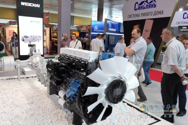 Weichai Brought Products on Display in China-Belarus Industrial Park