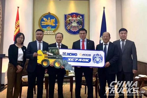 Wang Min makes an official visit to the mayor of Ulaanbaatar, Mongolia