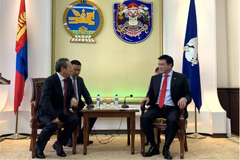 Wang Min Makes an Official Visit to the Mayor of Ulaanbaatar, Mongolia