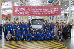 FAW Jiefang Rolls Off the 5,000th Locally Built Truck in South Africa