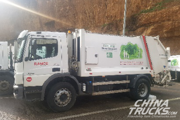 Refuse Trucks Equipped with Allison Transmissions Clean up After a Crisis