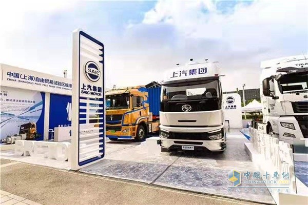 SAIC Hongyan 5G Intelligent Heavy-duty Truck Makes its Debut in Shanghai