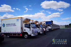 SHACMAN New Energy Refrigerated Trucks Start Operation at Daxing Int'l Airport