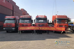 Chenglong Exports Its First Second-hand National III Trucks to Africa