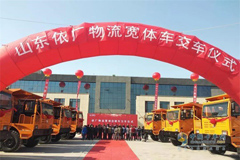 Beiben Delivers 50 Units Wide-body Trucks to Zibo for Operation