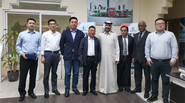 Yuan Hongming visits UAE market