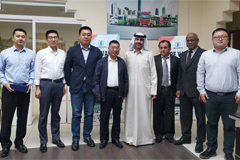 Yuan Hongming, Chairman of the Shaanxi Automobile Visits UAE market