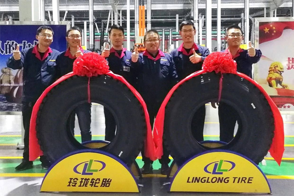 Linglong  Rolls Out First TBR Radial Tire from Hubei Plant