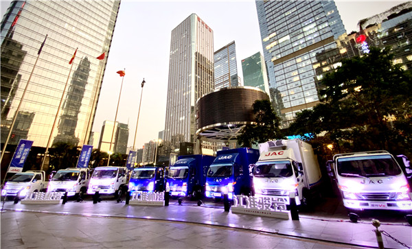 JAC Reveals New Trucks with National VI Emission Standards in Shenzhen
