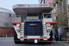 China's First 200-ton Hydrogen-Electricity Hybrid Truck Revealed to the Public