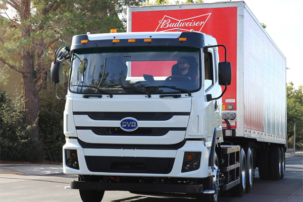 BYD Delivers 100th Battery-Electric Truck in the United States