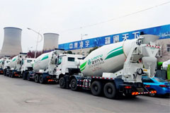 15 LINYU Mixers with Beiben Chassis Delivered to Customer