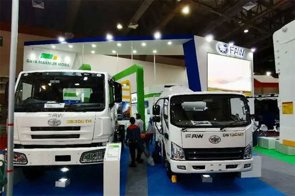 FAW Truck Lighting in Indo<em></em>nesia Auto Show