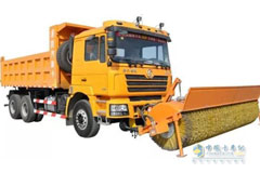 SHACMAN F3000  4×4 All-wheel Drive Snow Sweeper
