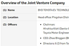 BYD, Toyota Launch BYD TOYOTA EV TECHNOLOGY Joint Venture