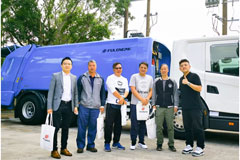 FULONGMA, Scania Launch 3rd-generation Compression Garbage Truck in Hong Kong