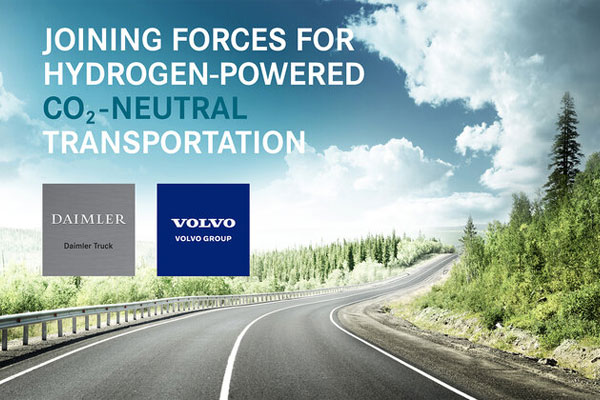 Volvo, Daimler to Form a Joint Venture for Large-scale Production of Fuel Cells
