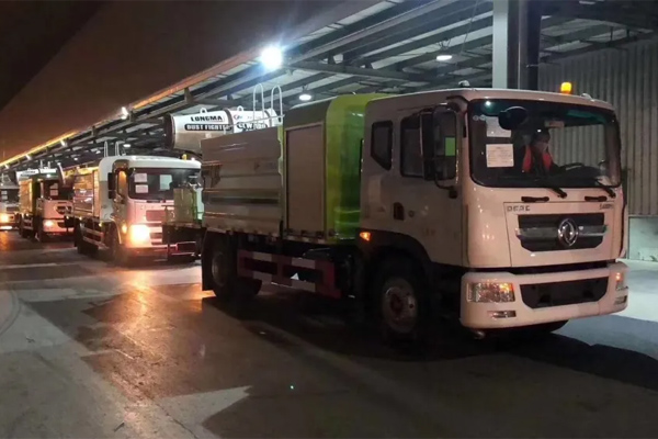 45 Units of Mist Cannon Trucks with Dongfeng Chassis Exported to UAE