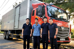 8 Units 6×2R Foton Logistics Trucks Arrive in Vietnam for Operation