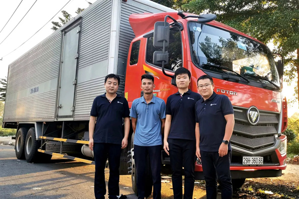 Foton Delivered First 8 Logistic Trucks to Vietnam BEST EXPRESS
