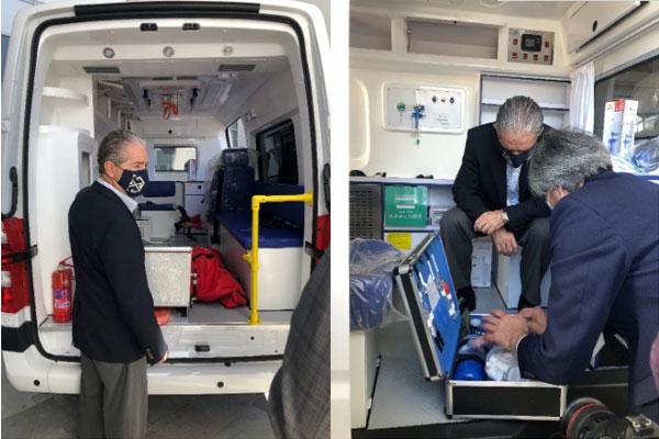 Foton Donates Ecuador First TOANO Negative Pressure Ambulance