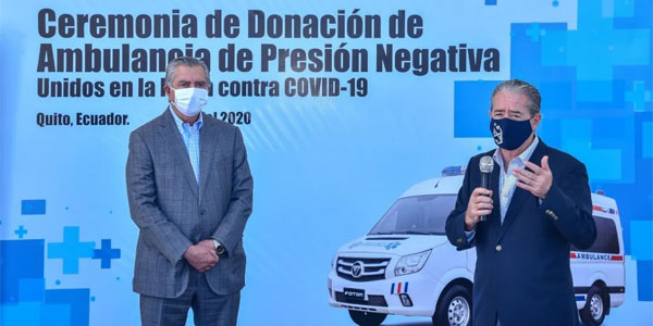 First Foton Negative Pressure Ambulance Vehicle Arrive in Ecuador for Operation