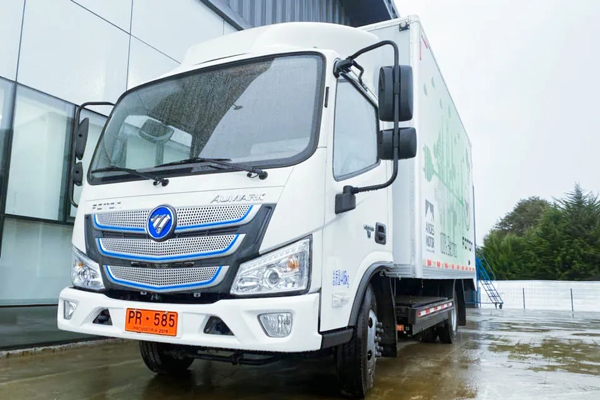Foton All-Electric Truck Starts Operation in Chile