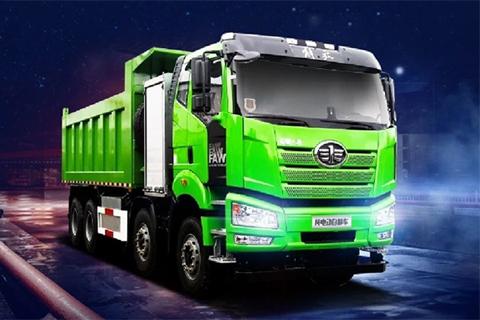 FAW Jiefang J6P 8X4 Electric Dumper+CRRC Motor
