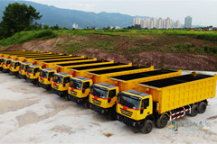 30 SAIC Hongyan Dump Trucks Heads to Congo