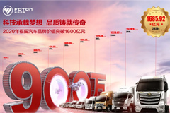 Foton's Brand Value Reached 168.592 Billion RMB