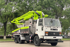 ZOOMLION's 38m Truck Mounted Pump for India Rolls off Assembly Line