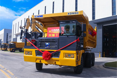 The 1,000 th XCMG Mining Truck XDM80 Rolled Off Factory Line