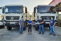 Dongfeng Philippines Hands Over 4 Dongfeng Dump Trucks to Its Customer