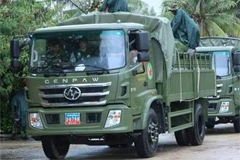 290 Hongyan Military Trucks Participate in Fighting Floods in Cambodia