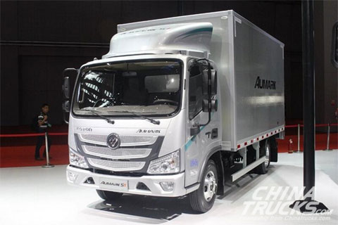 Foton S1 131HP Van Cargo Light Truck with Single-Row Cab and 4.2m Cargo Body