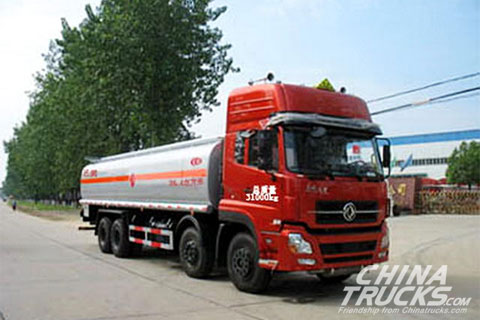 Dongfeng 8*4 27cbm huge chemical tanker