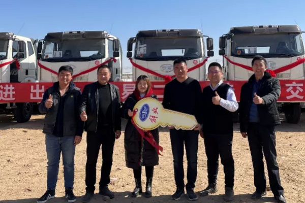 FAW Jiefang Delivers 70 Units of J6 Trucks to Mongolia