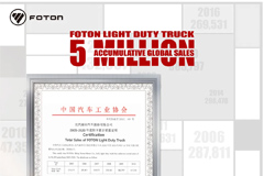 Foton Light Duty Truck Accumulative Global Sales 5 Million