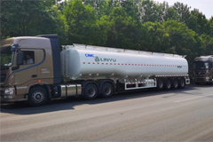 30 Units CIMC-Linyu Oil Tank Trucks Exported to Africa for Operation